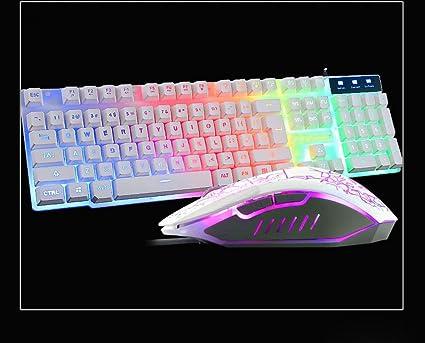 S keyboard Ratón Luminoso Teclado Conjunto USB Cableado Ratón ...
