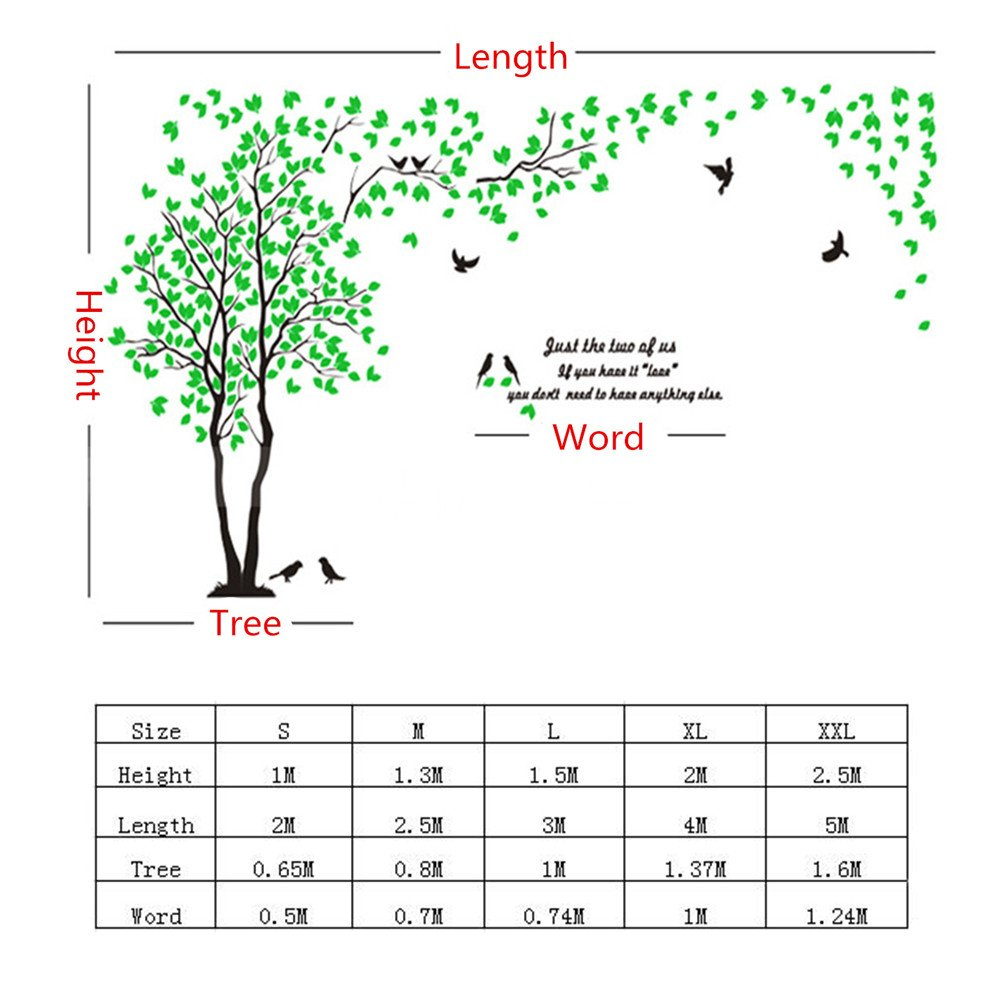 DIY 3D Giant Couple Tree Wall Decals Wall Stickers Crystal Acrylic Wall Décor Arts (L, Silver, Left to Right) by MJTP (Image #4)