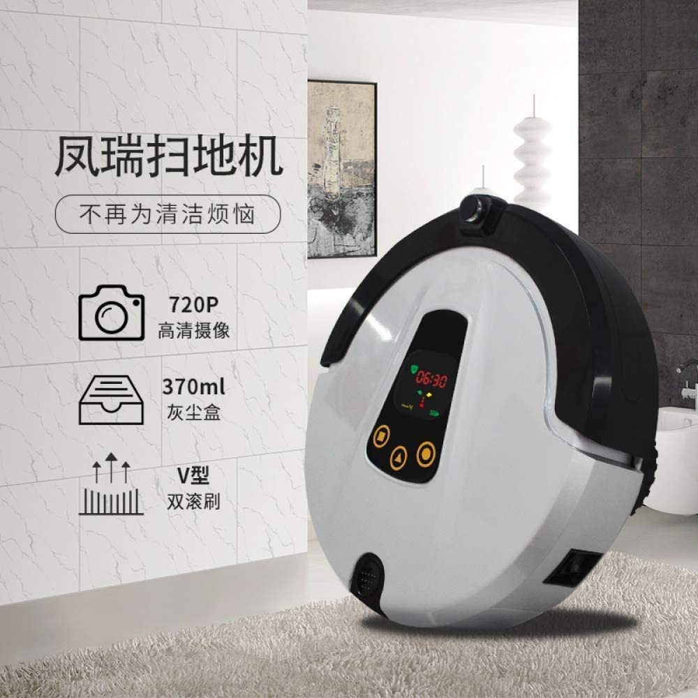 SEESEE.U Robot de Nettoyage Télécommande Robot Aspirateur Robot Vadrouille Balayage Poussière Stériliser Smart Planned Wash Mop Home Thin, Vacuum (Couleur: Gris) Gray