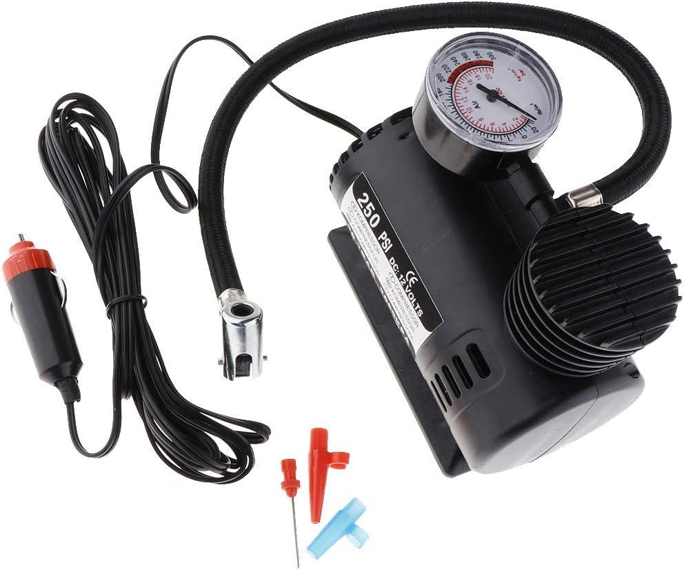 PETSOLA Mini Compresor De Aire El/éctrico Port/átil 12V Inflador Neum/ático Inflador 300PSI