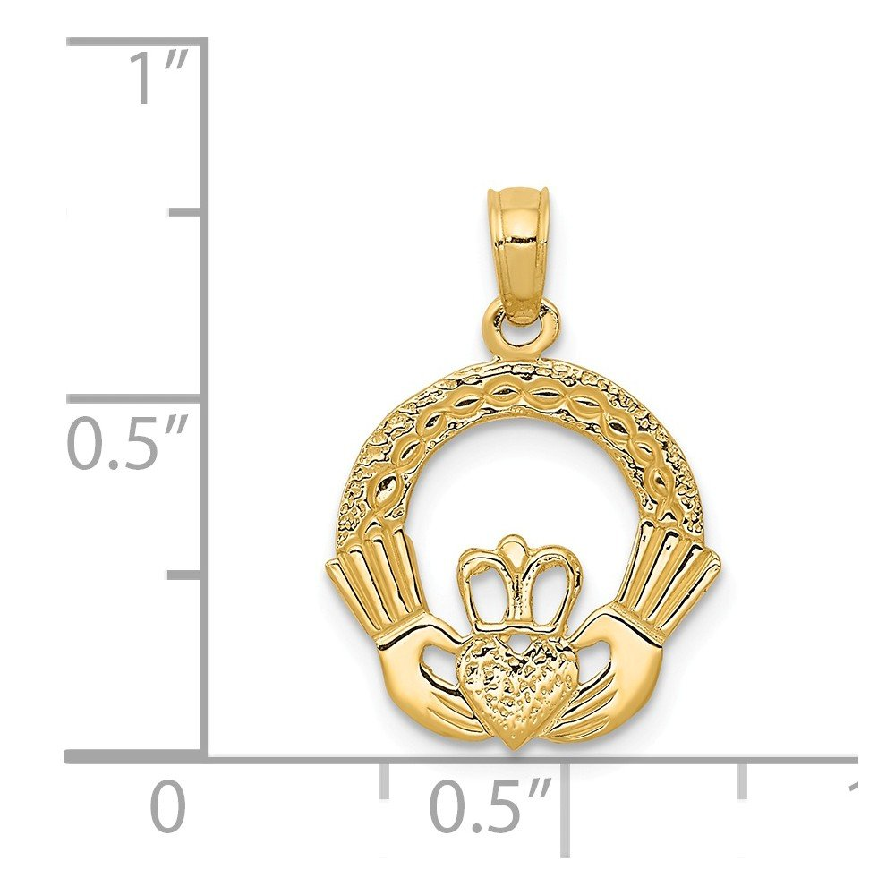14k Yellow Gold Claddagh Charm by Million Charms (Image #2)