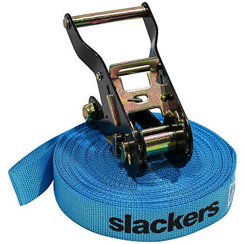 b4 Adventures Slackers Wave Walker Kit Outdoor Climbing Accessory, Blue, 50'
