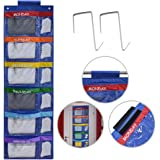 ABCKEY Rainbow Weekly Kids Clothes Organizer for Daily Activity,Portable Kids Clothes Storage with Two Hang Methods
