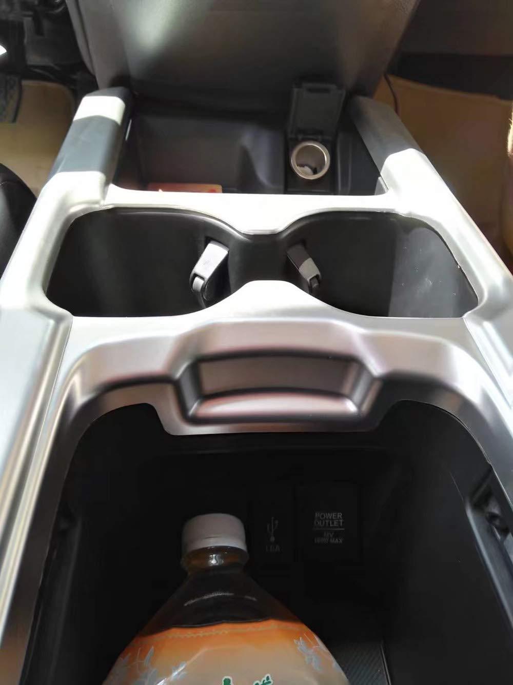 Kadore Interior Car Cup Holders Cover Trim for Honda CRV CR-V 2017-2019 Carbon Fiber Style 1pc