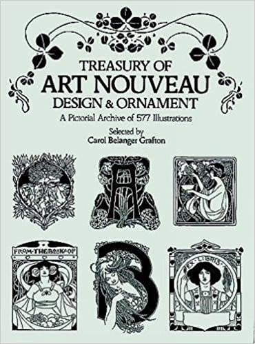 Treasury Of Art Nouveau Design Ornament Dover Pictorial Archive Paperback September 1 1980