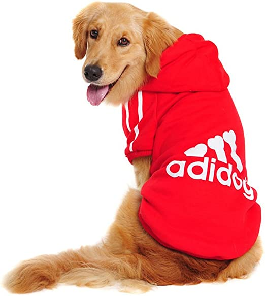 Oferta amazon: Adidog Ropa para Perros Grandes Sudaderas con Capucha para Perros Suéter de Lana Camisa de Algodón Abrigo para Perros Grandes Medianos (Rojo,3XL)