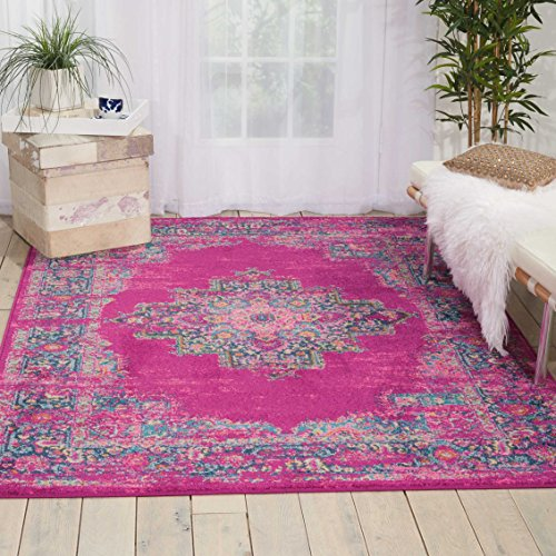 Nourison PSN03 Passion Traditional Bright Colorful Area Rug, 5'3