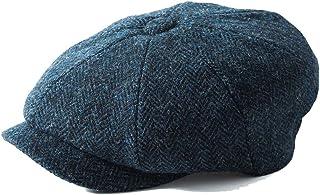 Earland Brothers Failsworth Failsworth Hats Carloway 8-Piece Bakerboy Harris Tweed Blue 3302