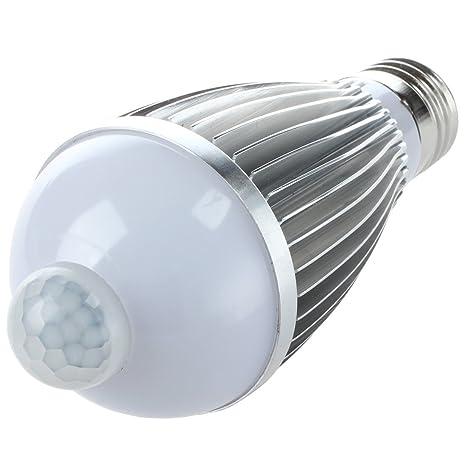Sodial R E27 Led Veilleuse De Nuit Lampe Capteur De Mouvement Blanc