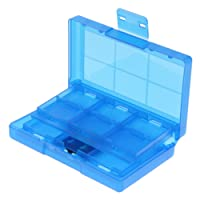 Dolity 24 Slot Game Card Case Cartridge Holder Storage Box Video Game Accessories fit for Nintendo Switch, Blue
