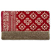 tag - Floral Coir Mat, Decorative All-Season Mat for The Front Porch, Patio or Entryway