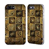 Official HBO Game Of Thrones All Houses Golden Sigils Silver Fender Case for Apple iPhone 7 Plus / iPhone 8 Plus