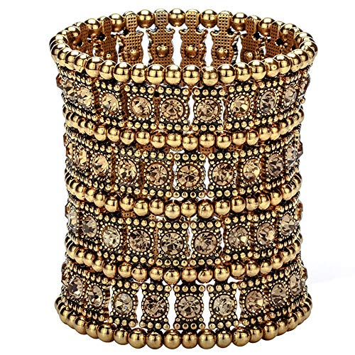 Hiddleston Multilayer 4 Row Jewelry Stretch Bracelet Gift For Women