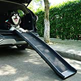 Sandinrayli Folding Pet Dog Ramp Car Ladder Stairs for Puppy Old Dogs Arthritis Joint Pain