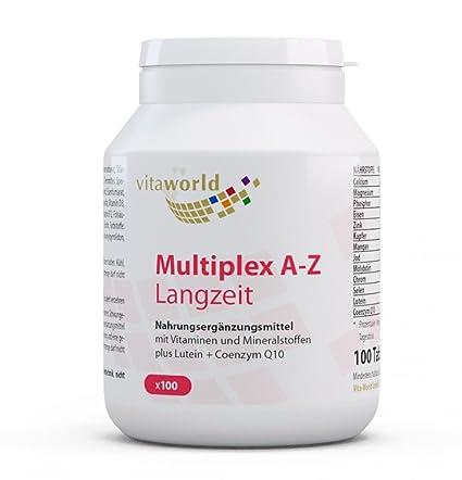 Complejo Multivitamínico A-Z - Liberación Progresiva - 100 Comprimidos Vita World Farmacia Alemania - Vitaminas y