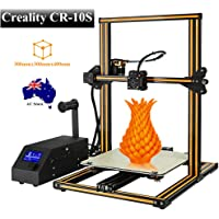 Creality CR-10S 3D Printer Kit Large Printing Size 300x300x400mm with Dual Z Axis, 1.75mm 0.4mm Nozzle with Filament Detector, Free 200g Filament, High Precision (Orange)