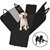 Dog Car Seat Cover, Large Back Pet Car Seat Protectors with Mesh Viewing Window, Storage Pocket, Non-Scratch Waterproof Non-Slip Dog Hammock for Cars Trucks and SUV - 147x137cm