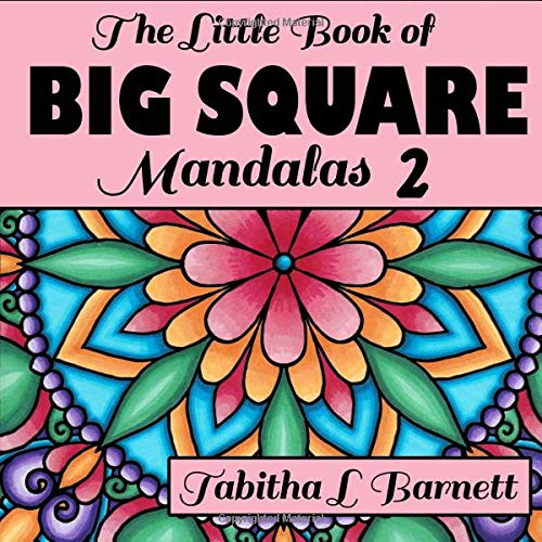The Little Book Of BIG SQUARE Mandalas 2  Adult Coloring Book