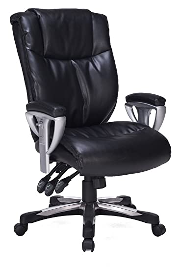 VIVA OFFICE High Back Bonded Leather Executive Chair With Adjustable  Backrest And Armrest