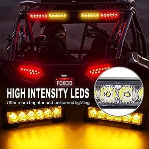 FOXCID 2 X 6 LED 9 Modes Traffic Advisor Emergency Warning Vehicle Strobe Lights for Interior Roof/Dash/Windshield/Grille/Deck Universal Waterproof (Green) (Color: Green)