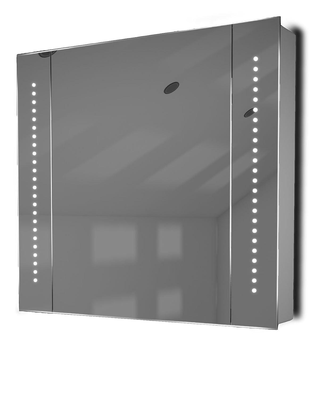 Astound Led Illuminated Bathroom Mirror Cabinet With Sensor & Shaver K18:  Amazon: Kitchen & Home
