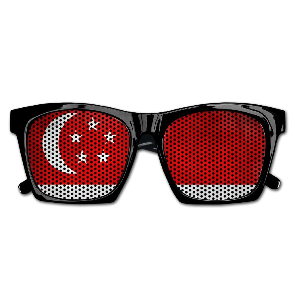 Xing Stars Colorful Summer Unisex Flag Of Singapore Country Fashion Party Costume Sunglasses
