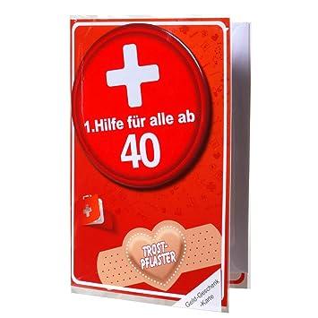 Geldgeschenk Karte.Geldgeschenk Karte 40 Mit 1 Hilfe Metall Button Inkl Umschlag Glückwunsch Karte 40 Geburtstag
