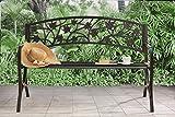 Sunjoy Maple Leaf Steel Frame Patio Garden Park