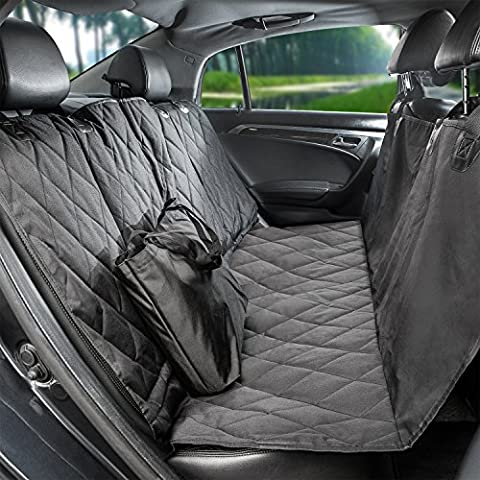 Pauraque Dog Car Seat Cover Protector for Cars Trucks and Suv's,Pet Car Seat Cover, Hammock Convertible,Black, WaterProof & NonSlip (Lead Protector)