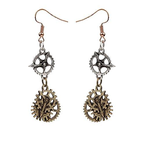 styles divers ramassé le dernier 1 Paire Mode Alliage Design Hameçon Boucle D'oreille Steampunk Bronze Bijoux