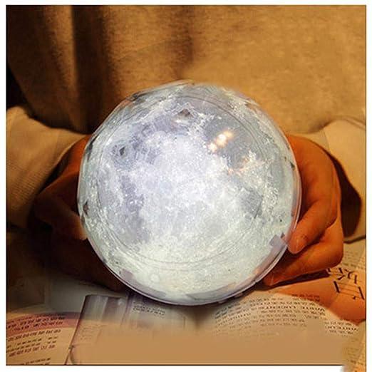 ZHIJINLI LED proyector Luna luz Nocturna lámpara de Noche Planeta ...