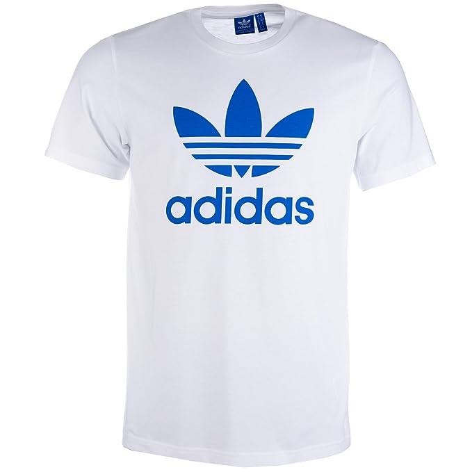 adidas Originals - Camiseta - para Hombre Blanco Blanco Large