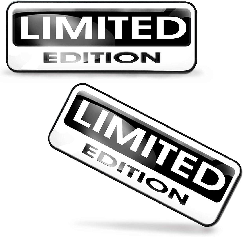 SkinoEu/® 2 x Aufkleber 3D Gel Silikon Stickers Limited Edition Auto Moto Motorrad Fahrrad Skate Fenster T/ür PC Tablet Laptop Tuning KS 89