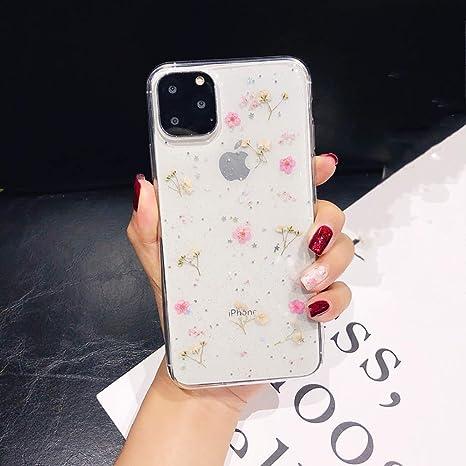 Bakicey - Carcasa para iPhone 11 Pro Max, ultrafina, hecha a mano, diseño de flores secas iPhone 11 Pro (5,8) Pequeña flor rosa.: Amazon.es: Hogar