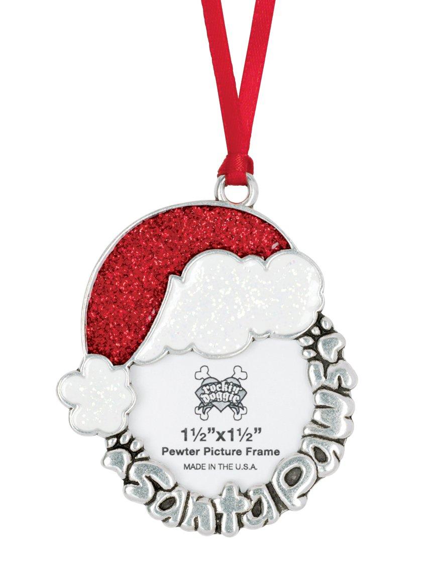 rockin' doggie Pewter Ornament, Santa Paws/Picture rockin' doggie 844587015930