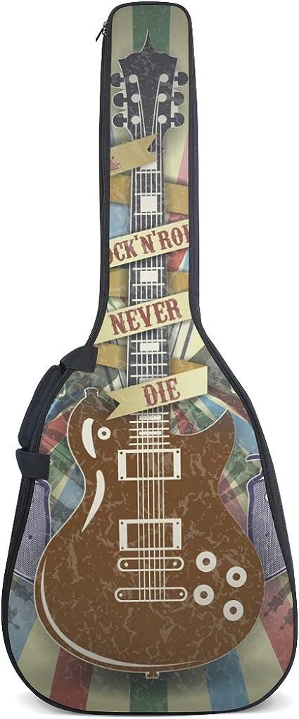 COOSUN Rock N Roll Symbol Print - Funda para guitarra acústica ...