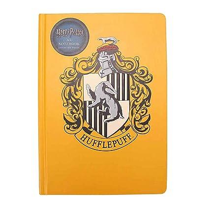 Genuino Harry Potter Hufflepuff House Crest A5 Cuaderno de ...