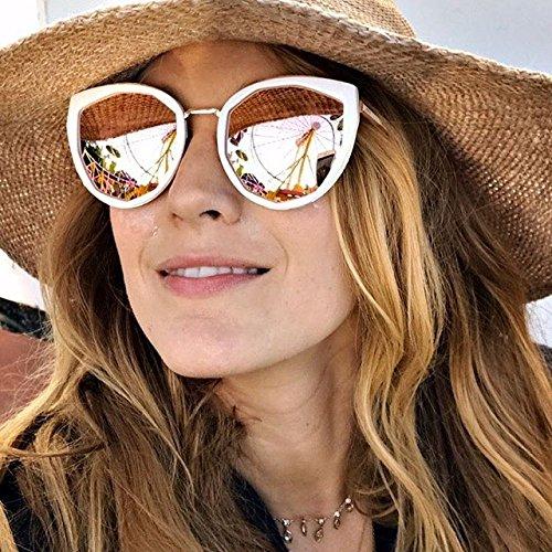 98013c3b45 PRIVÉ REVAUX The Artist Geometric Polarized Sunglasses For Women (Black  Gold)  Amazon.ca  Clothing   Accessories