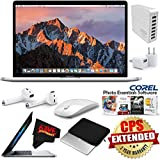 6Ave Apple 15.4 MacBook Pro with Touch Bar (Mid 2017, Silver) MPTV2LL/A + Travel USB 5V Wall Charger for iPhone/iPad (White) Bundle