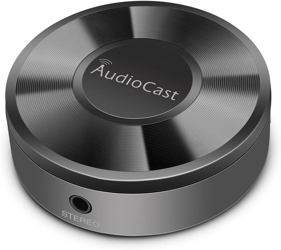 Adaptador inalámbrico de música ACEMAX M5 WiFi Audiocast compatible DLNA Airplay Spotify iHeartRadio transmisión de audio a sistemas de altavoces a través de una red Wi-Fi