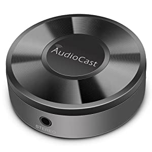ACEMAX M5 Audiocast WiFi Wireless Music Adapter DLNA Airplay Spotify iHeartRadio Supporting Stream Audio to Speaker Systems Over Wi-Fi Network from Mobile Devices NAS Windows Multi Room Supported