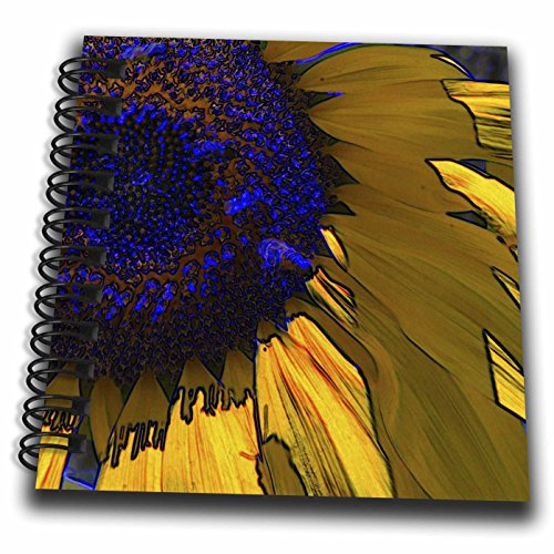 3dRose db_32612_3 Corn Yellow & Deep Blue Sunflower Flowers Designs in spired by Nature Mini Notepad, 4 by 4