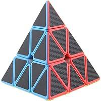 HOMYL Vintage 3x3 Pyramid Speed Magic Cube Pyraminx Puzzle Twist Kids Educational IQ Toy Triangle Cube Game