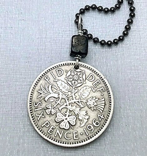 Sixpence Coin Necklace. Sixpence necklace. Wedding sixpence. Tudor Rose. Irish Shamrock. Scottish Thistle. Welsh Leek.