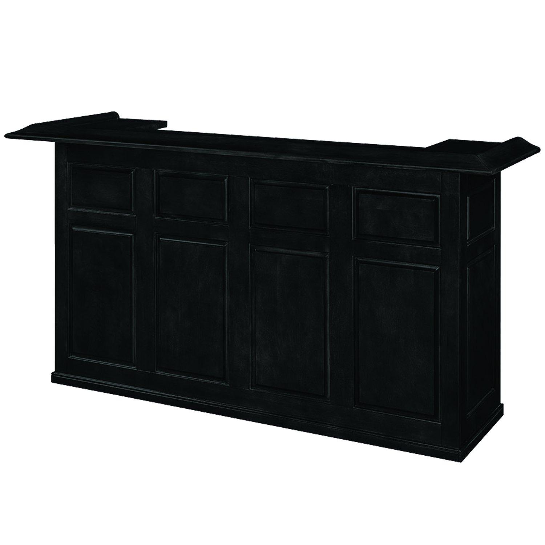RAM Game Room DBAR84 BLK Dry Bar with Mini Fridge Pocket, 84'', Black