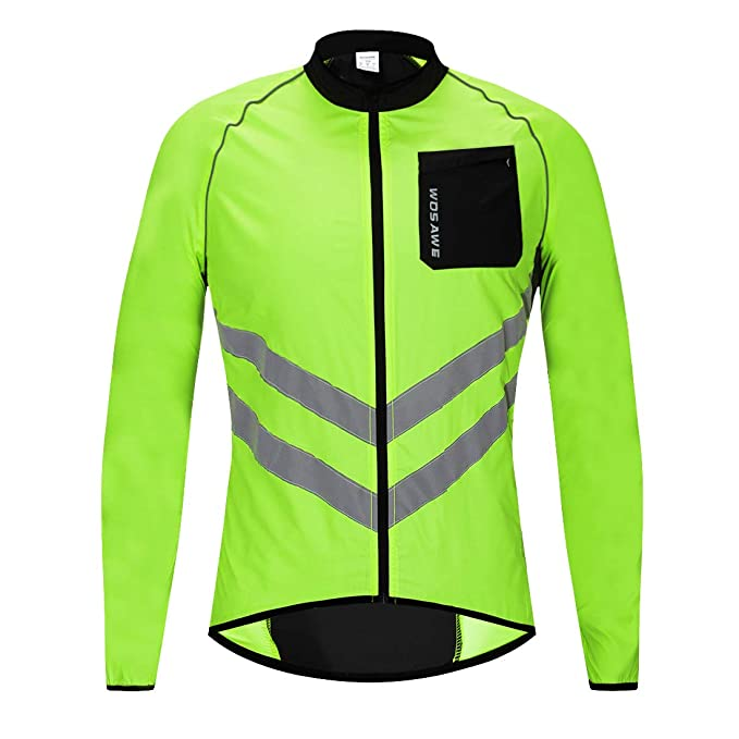 Cycling Jackets Cycling Clothings Wosawe Mtb Road Bike Reflective Jacket Light Weight Wateproof Cycling Jacket Windbreaker Jacket Safety Vest Bicycle Clothing
