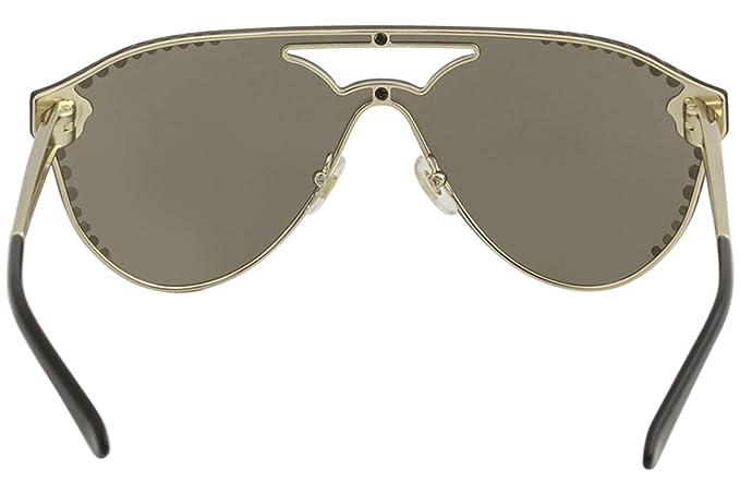 4d0a551cca0 VERSACE Women s 2161B 0VE2161B 12525A 42 Sunglasses Pale  Gold Lightbrownmirrordarkgold  Amazon.co.uk  Clothing