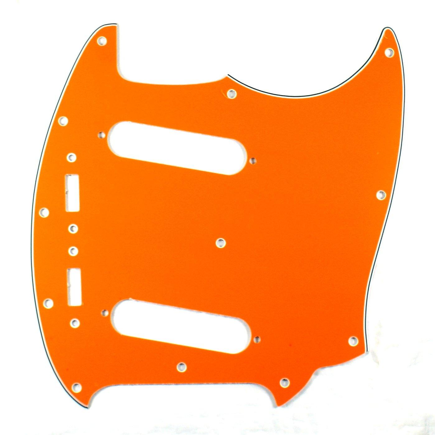 (E66) Custom Guitar Pickguard Fits Mustang Classic Series ,4 Ply Orange