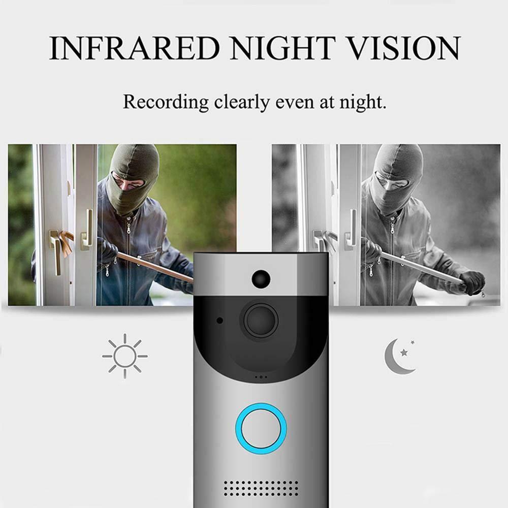 KOBWA Video-T/ürklingel 32 GB SD-Karte 2 Batterien Intelligente T/ür/überwachungskamera mit Wi-Fi-Audiokonversationen 720P-Weitwinkel-HD-Monitor PIR-Bewegungserkennung in Nachtsicht kostenlos T/ürklingel