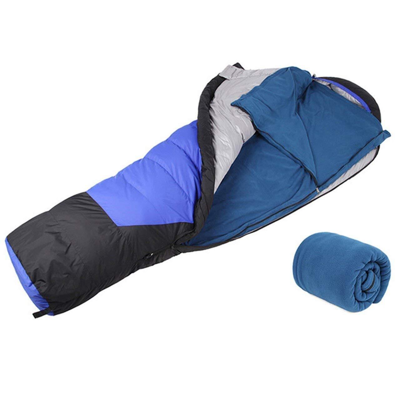 Wencaimd Sacos de Dormir para Acampar Saco de Dormir Polar Ultraligero port/átil for Dormir al Aire Libre Tienda de campa/ña Cama Viaje c/álido Saco de Dormir Forro para el Aire Libre